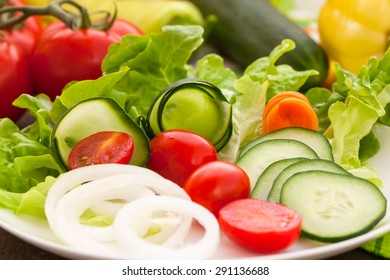 Vegetables on the salad plate