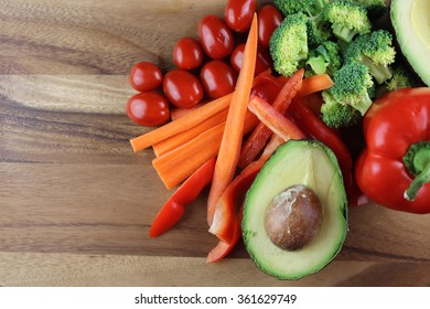 Vegetables on a tray