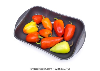 vegetables on the white background