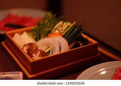 Vegetables for pot in Tokyo