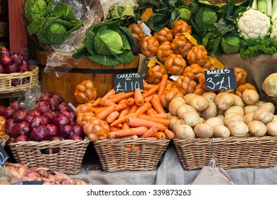 Vegetables for sale at grocery store
