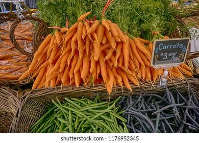 vegetables for sale at a market in Astoria, Oregon
