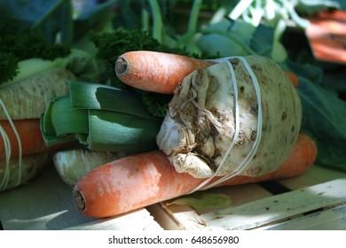 Vegetables for soup or salad
