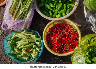 Vegetables at the street market, Vietnam