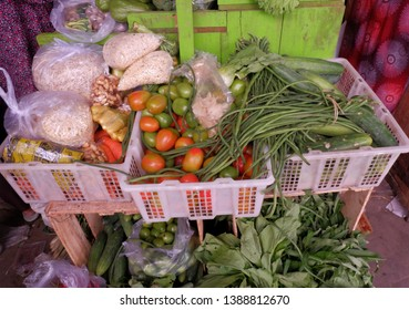 Vegetables at traditional market,located in wates local market