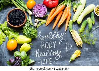 Vegetables/healthy food concept