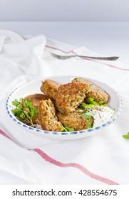 Vegetarian burger - Shutterstock ID 428554675