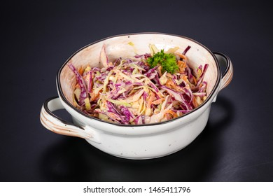 Vegetarian Cole slaw salad served parsley