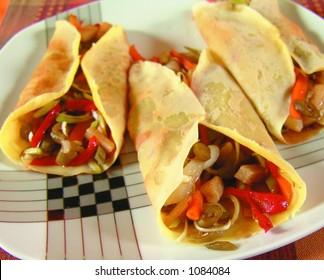 Vegetarian crepes