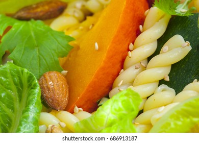 Vegetarian healthy food, vegetable salad,