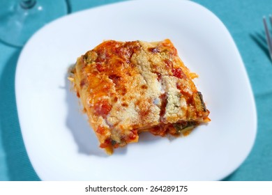 Vegetarian lasagna (top view)