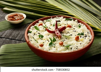 Vegetarian meal- tasty curd rice with spices.