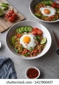 Vegetarian Nasi Goreng Indonesian Fried Rice