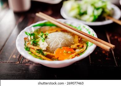 vegetarian noodle soup pho vietnamese traditional cuisine