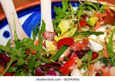 vegetarian nutrition, mixed salad in a bowl ready to eat/healthy diet, colorful vegetables/low calorie diet, healthy food