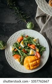 Vegetarian salad on black