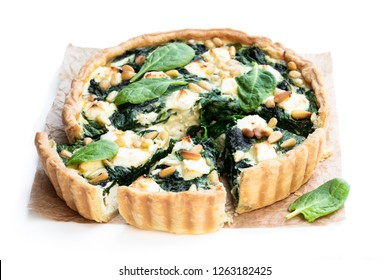 Vegetarian  tart with spinach