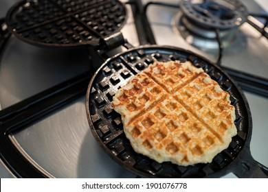 Vegetarian waffles made with tofu