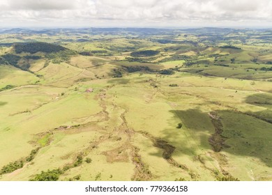 Vegetation and landscape of Ribeirao Claro, PR, Brazil