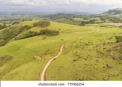 Vegetation and landscape of Ribeirao Claro, PR, Brazil