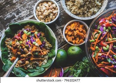 Veggie Bowl over Coconut Quinoa