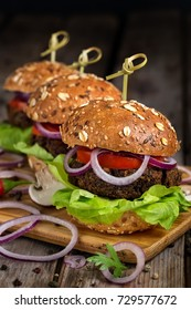 Veggie mushroom and lentil burgers
