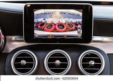 Vehicle Backup Camera And AC Ventilation Deck