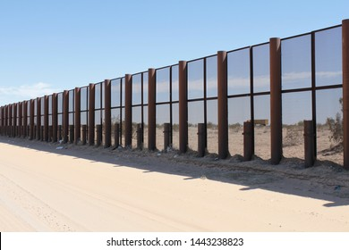 vehicle barrier fencing and screen fencing along the US Mexico border in Yuma Sector Arizona 1630