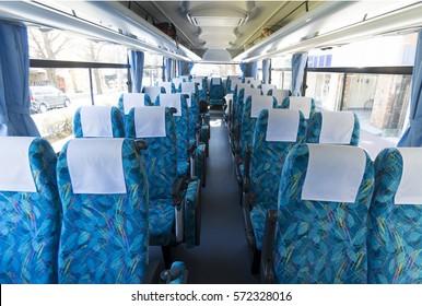 Vehicle bus in-vehicle image Tourist bus Large long distance seat Japan