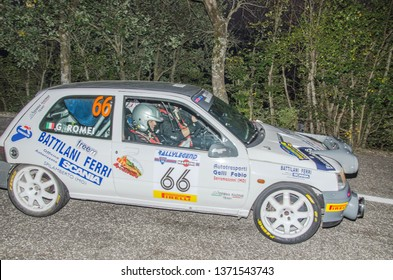 Vehicle competing during the Rally Legend (historic race), San Marino 12 and 13 October 2018