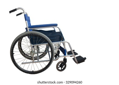 Vehicle for disabled patients isolated white background.