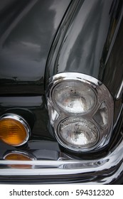 Vehicle historic, classic hood and front headlight