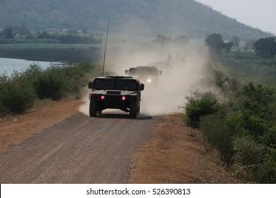 Vehicle military convoy
