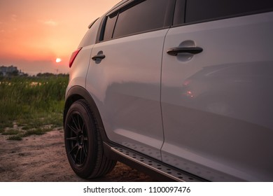 vehicle in outdoor. car travling concept.