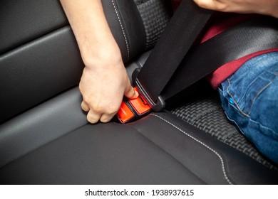 Vehicle safety concept - child fastening seat belt