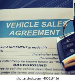 Vehicle Sales Agreement Document Form