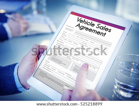 vehicle sales agreement form concept stock photo edit now