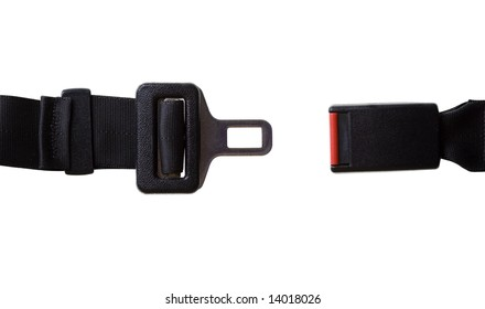 Vehicles Seat Belt - Isolated on White with Clipping Path