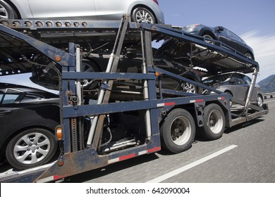 Vehicles transported to dealerships.