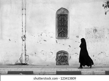 Veiled passenger, Tehran, Iran