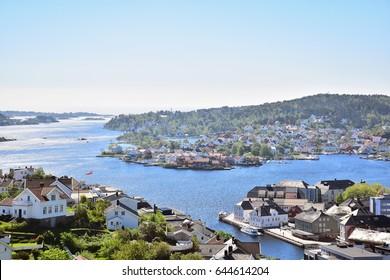 Veiw over Arendal, Norway