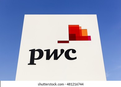 Vejle, Denmark - September 10, 2016: PricewaterhouseCoopers is a multinational professional services network headquartered in London. It is the largest professional services firm in the world