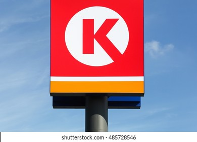 Vejle, Denmark - September 10, 2016:Circle K is an international chain of convenience stores, founded in 1951 in USA. Circle K announced that the Statoil brands will be converted to the Circle K brand