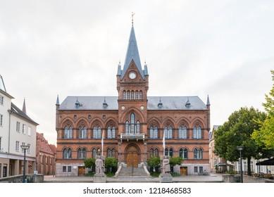 Vejle / Denmark - September 18 2018: Vejle Townhall / Rathaus in Vejle, Denmark.