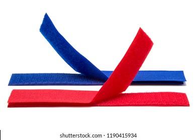 Velcro tape isolated on white background