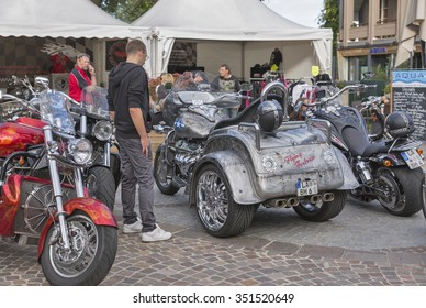 VELDEN, AUSTRIA - SEPTEMBER 08, 2015: Bikers from all over Europe during annual European Bike Week festival. European Bike Week ranks among Europe biggest and best motorcycle events now.