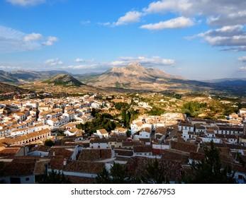Velez-Blanco cityscape taken from the castle, Almeria, Spain