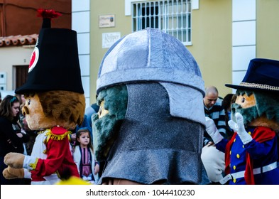 VELEZ-MALAGA, SPAIN - JANUARY 5, 2018 Parade on the occasion of the Epiphany holiday  in Malaga province, holiday day, procession