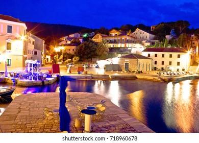 Veli Losinj bay evening view, island of Losinj, Croatia
