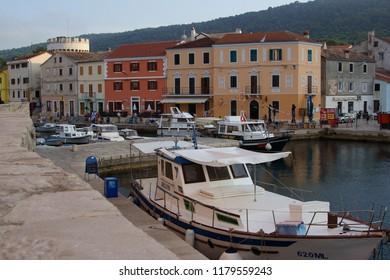 Veli Losinj / Croatia - September 5, 2008: Harbor in little town Veli Losinj